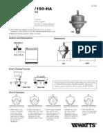Series 150A/150-HA Installation Instructions