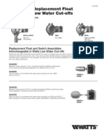 Wiring and Replacement Float Switch for Low Water Cut-offs Installation Instructions