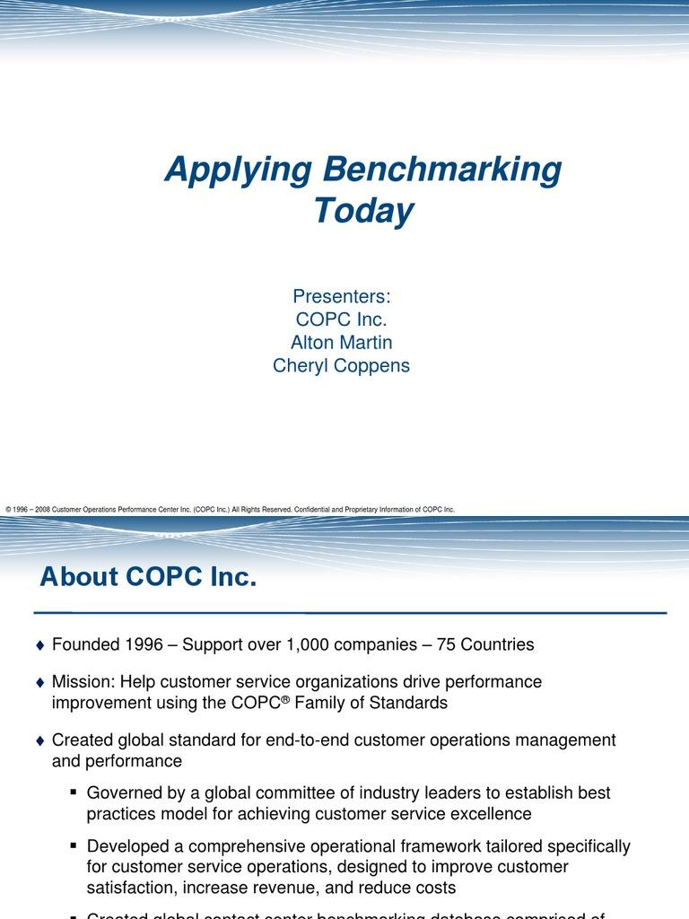 Contact Center Benchmarks Benchmarking Call Centre
