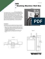 Model 2M2 DWB Duo-Clozure Washing Machine Wall Box Installation Instructions