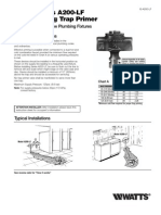Series A200-LF Water Saving Trap Primer Installation Instructions