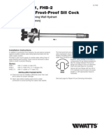 Series FHB-1, FHB-2 Anti-Siphon Frost-Proof Sill Cock Installation Instructions