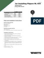 Watts/Flippen RL 600 Installation Instructions