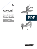 Series E400, E500, LFE400 and LFE500 Kitchen Faucets Installation Instructions
