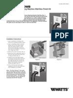 Model 2M2 DWB Finish Kit Installation Instructions