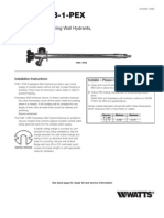 Series FHB-1-PEX Installation Instructions