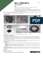 Series WDS-SP-L, WDS-SP-R Installation Instructions