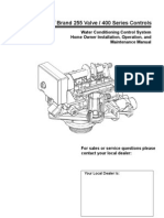 Autotrol Brand 255 Valve / 400 Series Controls Installation Instructions