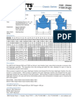 Classic Series F500 (Globe), F1500 (Angle) Specification Sheet