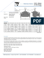 Stainless Series S100 (Globe), S1100 (Angle) Specification Sheet