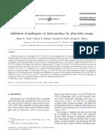 Exhibition of pathogen by radiation