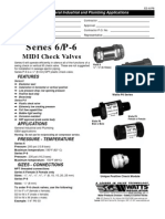 Series 6/P-6 MIDI Check Valves Specification Sheet