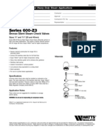 Series 600-Z3 Specification Sheet