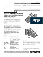 Series 77F-SS, 77G-SS Specification Sheet