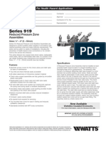 Series 919 Specification Sheet