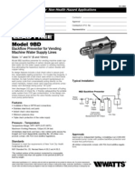 Model 9BD Specification Sheet