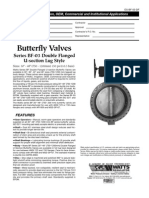 Butterfly Valves Series BF-03 Double Flanged U-section Lug Style Specification Sheet