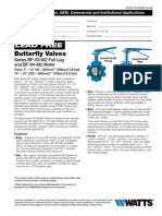 Butterfly Valves Series BF-03-M2 Full Lug and BF-04-M2 Wafer Specification Sheet