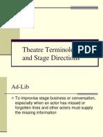 Theatre Terminology