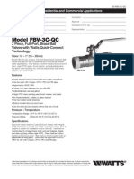 Model FBV-3C-QC Specification Sheet