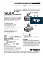 Series FBV-3C-SS, FBVS-3C-SS Specification Sheet