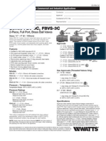 Series FBV-3C, FBVS-3C Specification Sheet