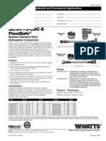 Series FS-CDC-S FloodSafe Specification Sheet