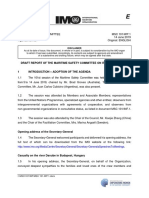 MSC 101-WP.1 - Draft Report Of The Maritime Safety Committee On Its 101St Session (Secretariat)