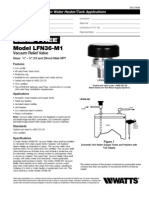 Model LFN36-M1 Specification Sheet