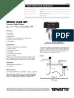 Model N36-M1 Specification Sheet