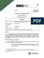 MSC 101-2-3 - Outcome of MEPC 73 (Secretariat)