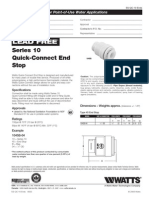 Series 10 Quick-Connect End Stop Specification Sheet