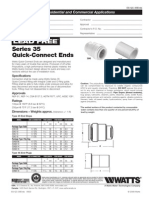 Lead Free Series 35 Quick-Connect Ends Specification Sheet
