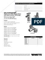 QC-KwikStop Quarter-turn Water Supply Stops with Quick-Connect Technology Specification Sheet
