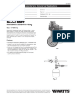 Model RBFF Residential Boiler Fill Fitting Specification Sheet