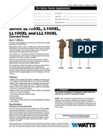 Series SL100XL, L100XL, LL100XL and LLL100XL Extended Shank Specification Sheet
