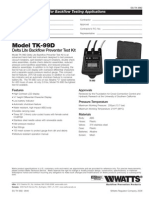 Model TK-99D Specification Sheet