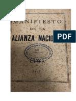 Alianza Nacional - Manifiesto