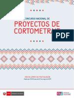 Bases Proyectos de Cortometraje 2019