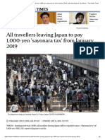 All Travellers Leaving Japan to Pay 1,000-Yen 'Sayonara Tax' From January 2019, East Asia News & Top Stories - The Straits Times