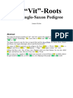 "The ""Vit""-Roots in the Anglo-Saxon Pedigree"