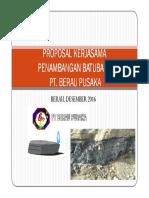 Kerjasama Penambangan Batubara IUP Eksplorasi PT. Berau Pusaka