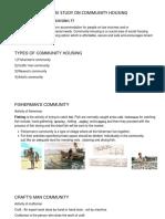 Literature Study on Community Housing