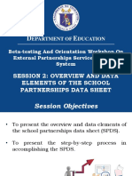 005 Session 2 Overview and Data Elements of SPDS