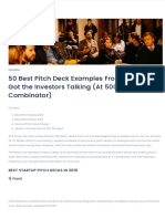 50 Best Pitch Deck Examples from 2018 | YC & 500 Startups