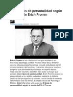 Los 5 Tipos de Personalidad Según La Teoría de Erich Fromm