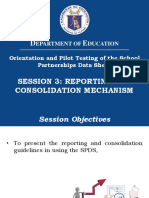 007 Session 3 Reporting and Consolidation Mechanism