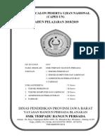 Cover Daftar Calon Peserta Ujian Nasional
