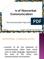 6. Nature of Nonverbal Communication