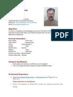 Muhammad Shahzad CV for Derrickman